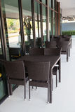 Chairs and tables in a restaurant Royalty Free Stock Images