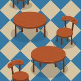 Chairs and tables seamless Stock Image