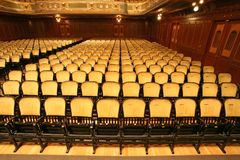 chairs teatern Arkivfoto
