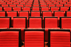 Chairs in theater Royalty Free Stock Photography