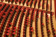 Chairs in a theater Royalty Free Stock Photos