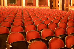 Chairs in a theater Stock Photography
