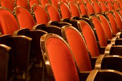 Chairs in a theater Royalty Free Stock Photography