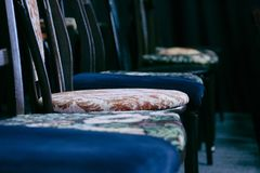 Chairs in the theater stock photography