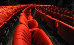 Chairs in a theatre Stock Photo