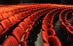 Chairs in a theatre Royalty Free Stock Photo