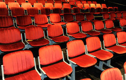 Chairs in a theatre Royalty Free Stock Photography