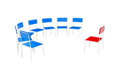 Chairs to the circle Stock Images