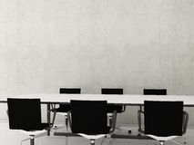 Chairs to face a blank wall Royalty Free Stock Image