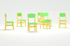 Chairs to spread Stock Image