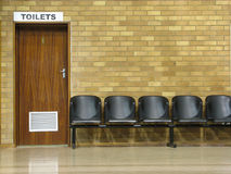 chairs toaletter Royaltyfri Foto