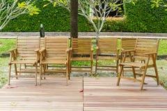 chairs trä Royaltyfri Fotografi
