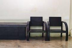 chairs trä Arkivbilder