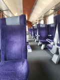 Chairs. In the train Royalty Free Stock Image