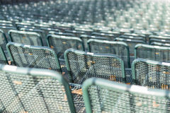 Chairs on a Tribune Stock Images