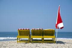 Chairs and umbrella Stock Image