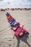 Chairs & Umbrellas in Miami Royalty Free Stock Image