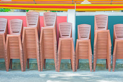Chairs under awning Stock Photography