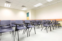 Chairs in a university classroom Stock Photo