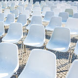 chairs utomhus- Arkivfoto