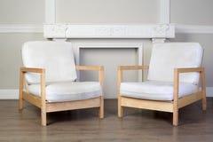 chairs utsmyckad murbruk två för dekorativa stöpningar arkivfoton