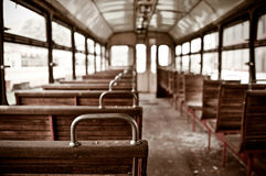 Chairs in vintage train Royalty Free Stock Photography