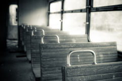 Chairs in vintage train Royalty Free Stock Photo