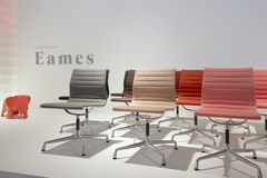 Chairs at Vitra stand during Salone del Mobile Royalty Free Stock Photography