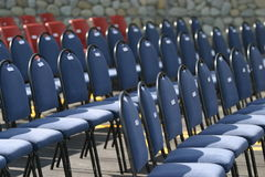 Chairs waiting for dignitaries Royalty Free Stock Photography