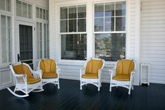 Chairs_Waiting pour la conversation Image stock