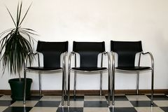 Chairs waiting room. Chairs in a hospital waiting room