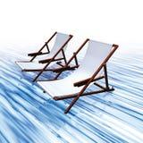 Chairs  water Stock Photo