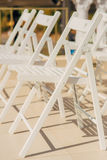 Chairs for wedding ceremony Royalty Free Stock Photos