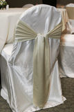 Satin covered wedding chair with sash Stock Image