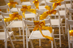 Chairs at the wedding Royalty Free Stock Image