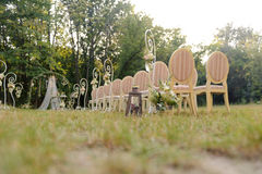 Chairs for Wedding Guests Royalty Free Stock Photos