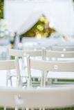 Chairs of a wedding outdoors Royalty Free Stock Image