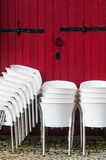 chairs white Royaltyfri Bild