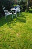 chairs white Fotografering för Bildbyråer