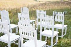 chairs white Arkivbild