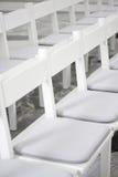chairs white Royaltyfri Fotografi