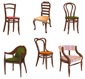 Chairs. Chairs on white background. Vector illustration Stock Photo