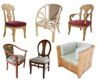 Chairs on white with clipping path Stock Image