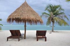 Chaise à la plage Image stock