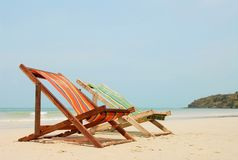 Chaise. Thailand, beach, travel, 2007, nikon D200 stock image