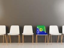 Chaise avec le drapeau de l'Île Christmas Photo stock