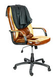 Chaise avec une veste Photographie stock libre de droits