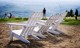 Chaise blanche Photographie stock