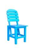 Chaise bleue en bois Images libres de droits