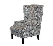 Chaise classique de textile Photo stock